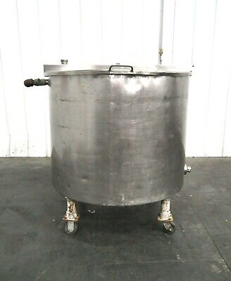 Mo-2993 Stainless Steel 230 Gallon Mix Tank On Casters. 304 Ss.