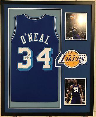Shaquille O Neal Autographed Custom Framed LA Lakers Jersey 2 JSA Witnessed  COA d128fada6