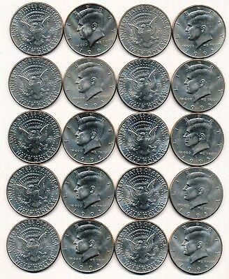 1995 D KENNEDY HALF DOLLAR ROLL 20 COINS $10 ROLL
