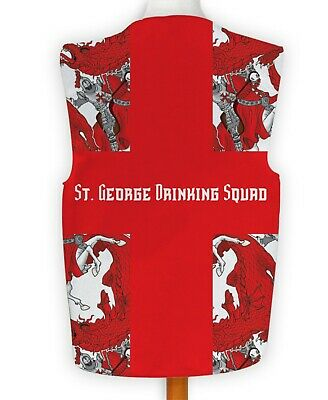 St George Drachen Trinken Truppe Neuheit Weste Kostüm - Trinken Kostüme Ideen