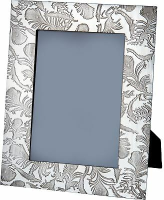 V&A Licensed Peacock Collection - Large Pewter Picture Frame with Feather