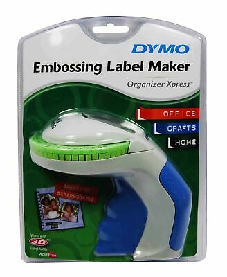 Handheld Embossing Label Maker Organizer Xpress Soft Grip Enhanced Tape Cutting