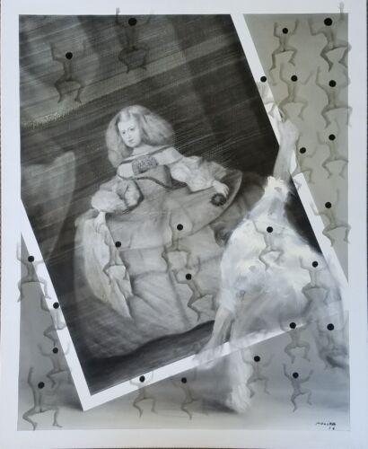 """Original Juan Jose Molina (columbia/spain 1943-2007) O/c Titled """"menina 3""""  2006"""