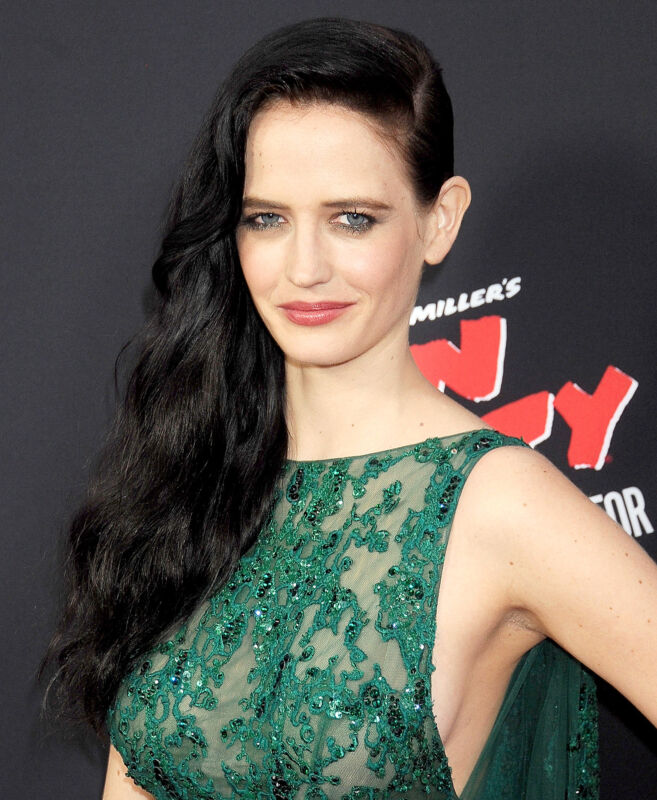 Eva Green Posing Green Dress 8x10 Photo Print