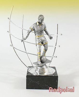 Mega Fußball - Pokal - Wanderpokal in Silber  inkl. Gravur  ca. 27 cm