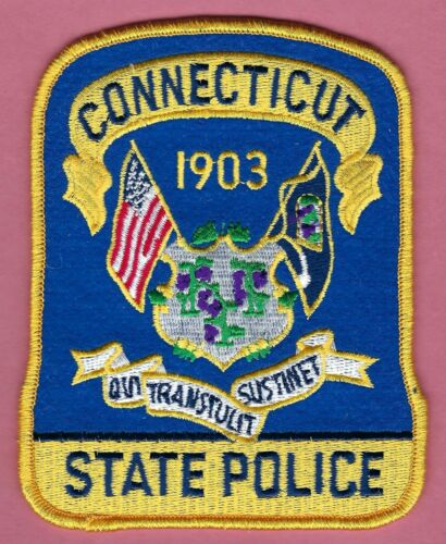CONNECTICUT STATE POLICE SHOULDER PATCH