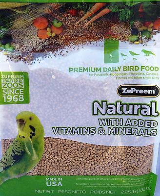 Canary Pellets - ZUPREEM AVIAN NATURAL PELLET DIET VITAMINS MINERALS Parakeets Canaries Budgeriga