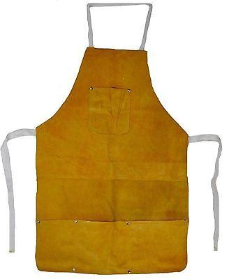 Split Leather Welding Apron 4 Pockets Free Shipping