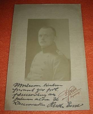 Soldat Halle/Saale 1.Weltkrieg Magdeburg original Foto mit Autogramm