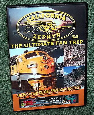 "cp023 TRAIN VIDEO DVD ""THE CALIFORNIA ZEPHYR"" VINTAGE FILM 1960's"