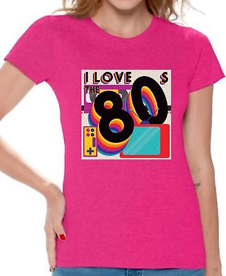 80S Shirts 80S Costumes For Women 80S Party I Love The 80S Accessories 80S Top