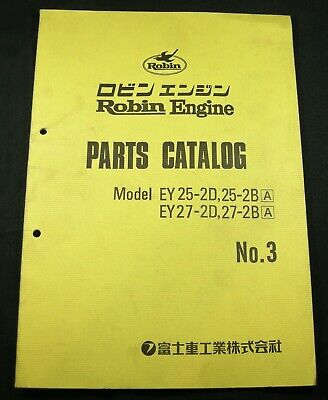 Robin Engine Ey25-2d 25-2b Ey27-2d 27-2b Parts Manual Book Catalog List Guide