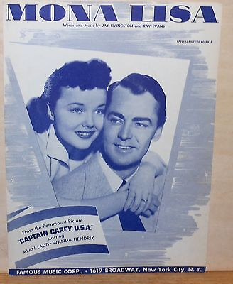 Captain Carey USA Alan Ladd vintage movie poster #2
