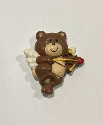 Cute Cupid Costume (Cute Russ Teddy Bear Cupid Pin Brooch - Plastic - Valentines)