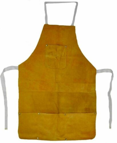 Split Leather Welding Apron Protective With Pockects Carpenter Blacksmith