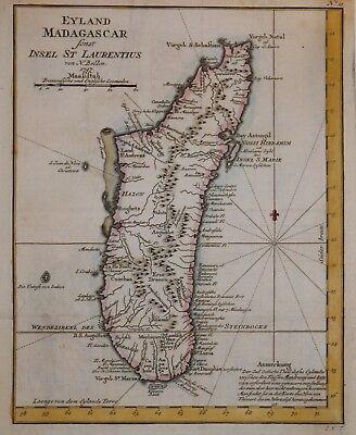 MADAGASCAR BY NICHOLAS BELLIN 1747.