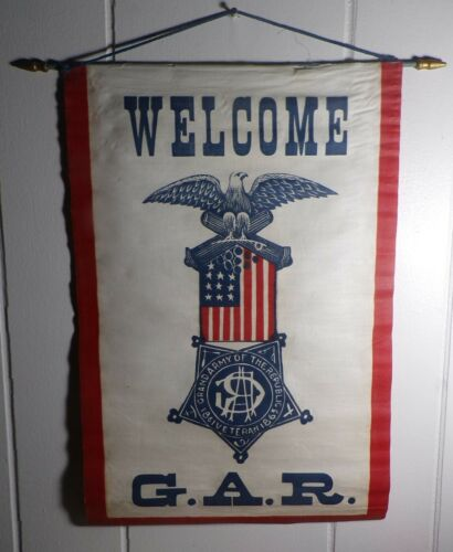 Rare 1861- 1866 Grand Army of the Republic Banner Pennant MUST HAVE G.A.R. ITEM!