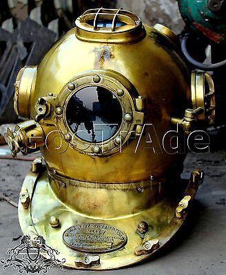 Antique GIFT US Navy Vintage Dive Helmet Mark V Antique Diving Divers Helmet Gft