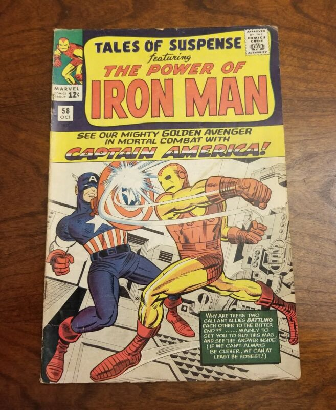 Tales Of Suspense #58 - Iron Man vs. Captain America - 2nd Kraven - 1964 - FN/VF