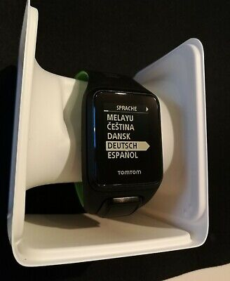 TomTom Runner 3 Cardio + Music GPS Running Watch (Black/Green - Large)
