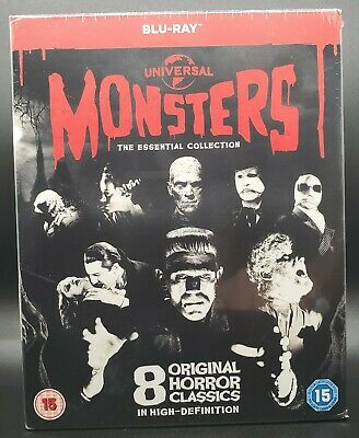 Black And White Halloween Movie Classics (Universal Classic Monsters The Essential Collection BLU-RAY Box Set BRAND)