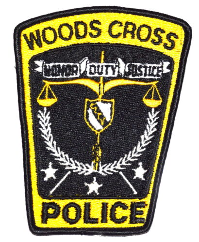 WOODS CROSS UTAH UT Police Sheriff Patch SCALE OF JUSTICE ~