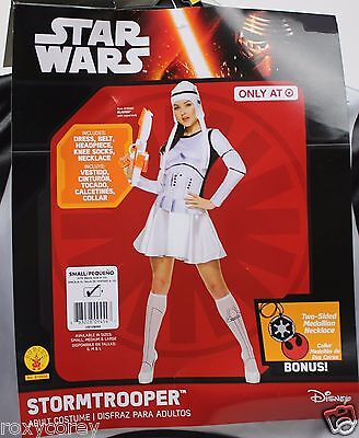 Adult Star Wars Womens Stormtrooper Costume Size Small 6-10 Dress Belt Headpiece - Stormtrooper Costume Women