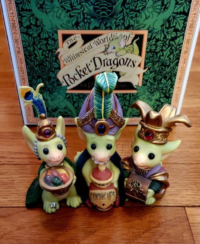 "Rare Pocket Dragons ""Wee Three Kings"" Limited Edition"