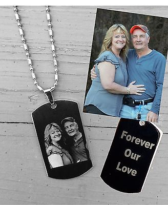 Photo Engraved Necklace/Keychain