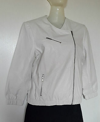 Levis Women Jacket Leather Real Fr S, Eu S , Uk S, Usca S White Ecru