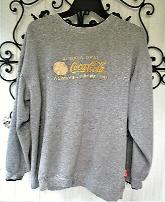 Coca Cola Women's/Juniors Gray Long Sleeve Graphic Sweatshirt Size L/G