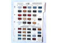 1979 JEEP PAINT COLOR CHIP CHART ALL MODELS FSJ CJ J-10 WAGONEER CHEROKEE  DN38