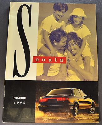 1996 Hyundai Sonata Catalog Sales Brochure GL GLS Excellent Original 92