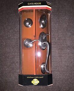 Gate House Brass Door Handle Set