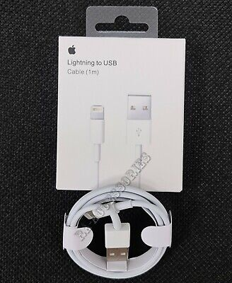 Genuine Apple 1m Lightning to USB Charging Lead Cable For iPhone 5c 6 7 8 XS Box