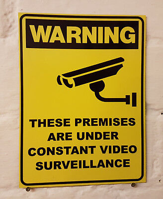 CCTV in operation metal Aluminium Work / Site / Safety Sign / surveillance