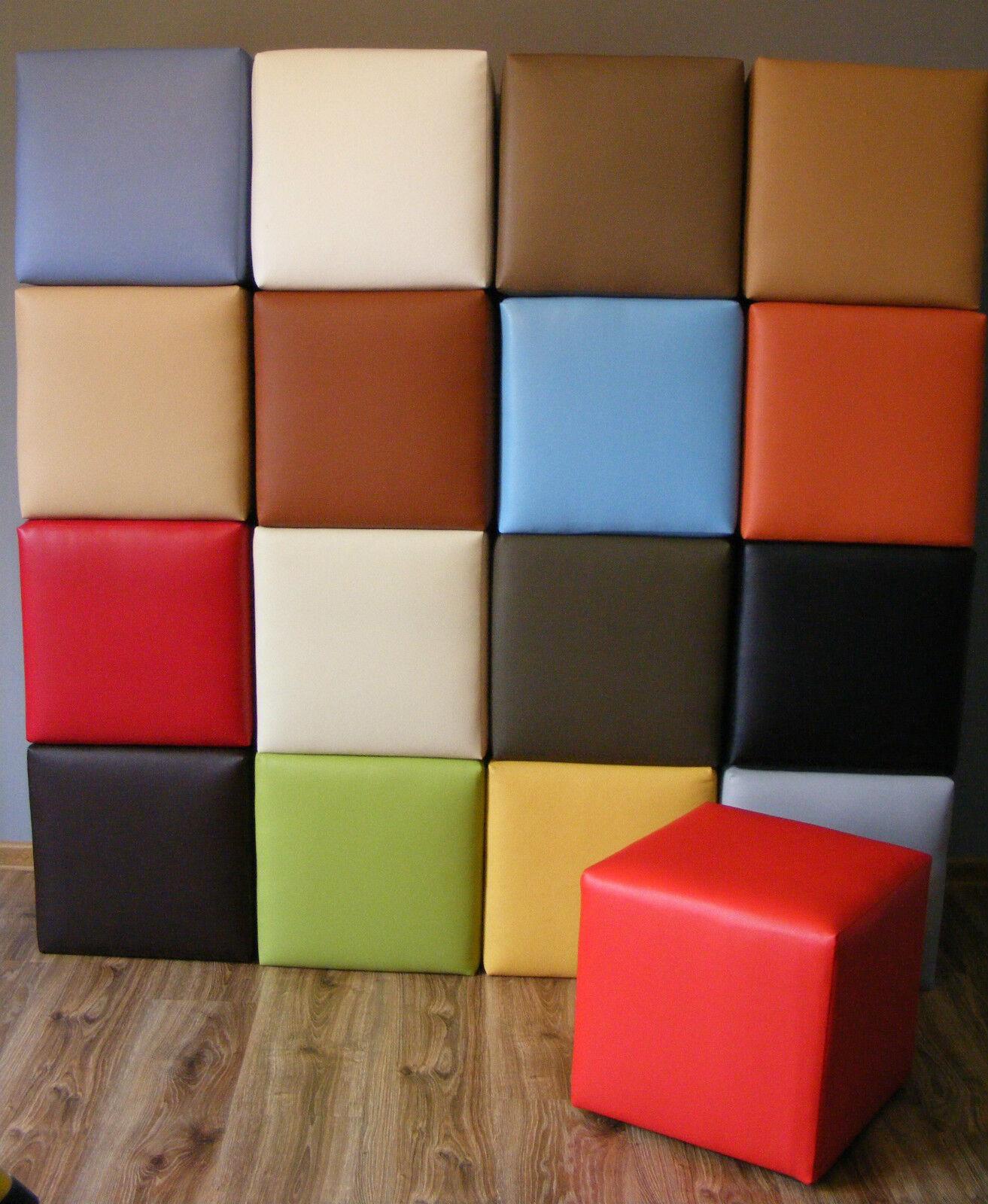 Sitzwürfel Hocker Kunstleder Sitzhocker Cubic Versand Kostenlos 40x40x40