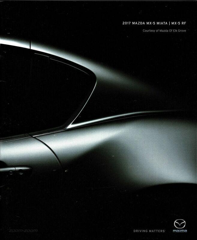 2017 Mazda MX-5 Miata MX-5 RF Sport Club Grand Touring New Sales Brochure