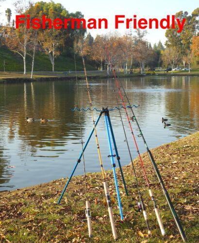 Fishing Rod Tripod Holder/ Holds 8 Rods