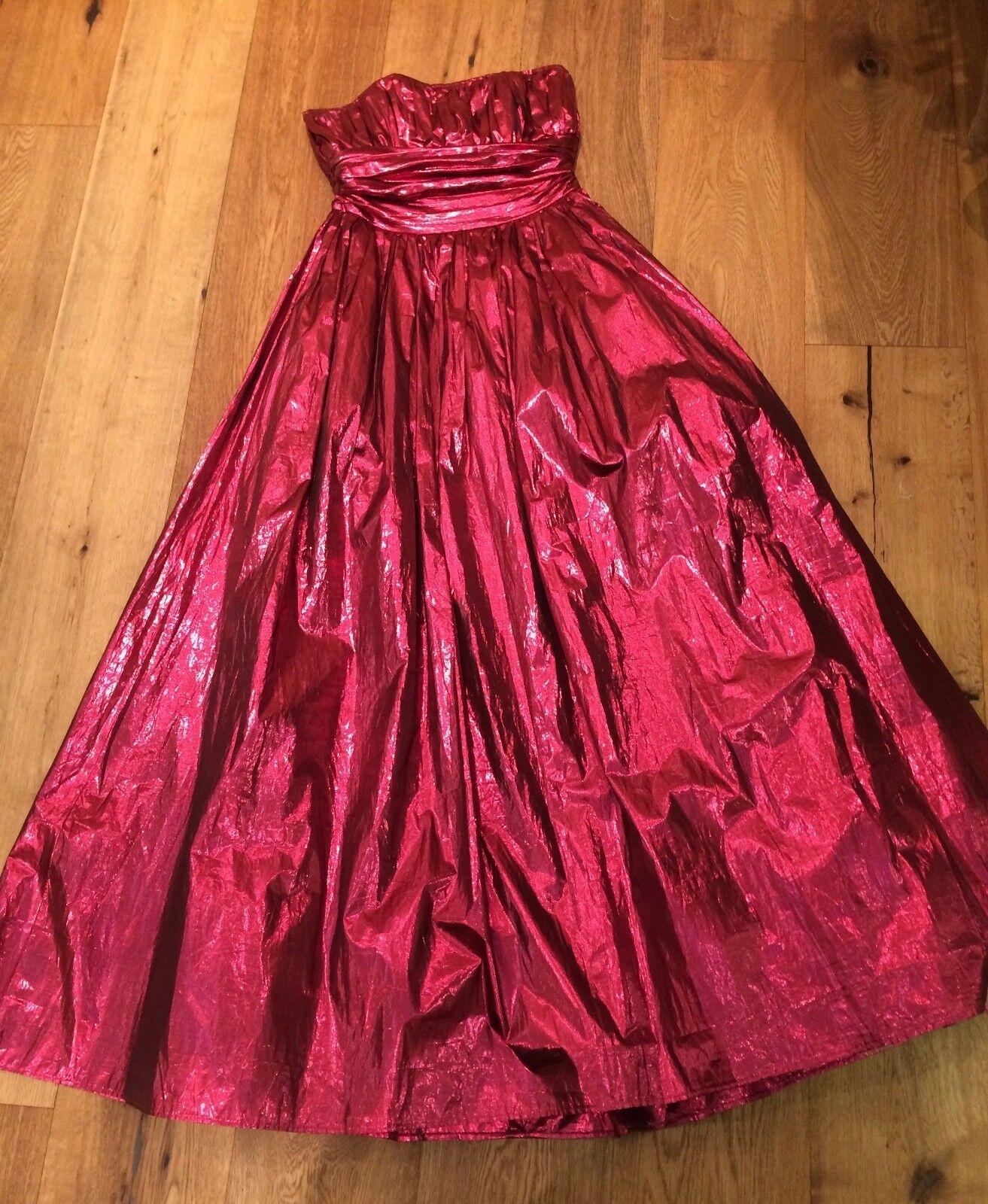 Abendkleid, Modellkleid, Corsage, lang, Gr. 38, weinrot, Josh Charles