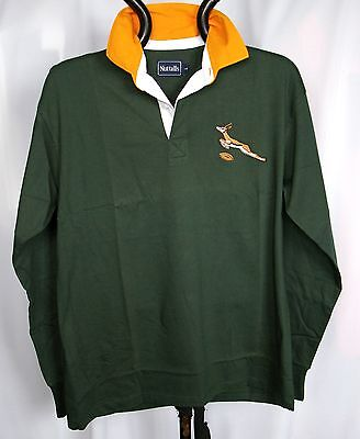 RUGBY WORLD CUP SOUTH AFRICAN RETRO CLASSIC COMBED COTTON  RUGBY SHIRT