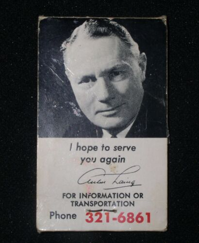 Arthur Laing-Liberal Candidate for Vancouver South B.C.,Canada advert sewing kit