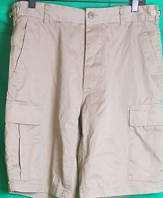 Men's Military Style Khaki Cargo Shorts Khaki (Size: 31 to 35)