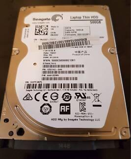 Seagate 2.5-inch SATA Hard Drive 500GB, In Good Working Order