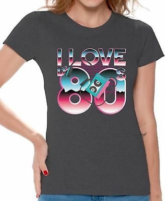 80s Shirts 80s Clothes for Women 80s Disco Theme I Love the 80s Accessories](80s Theme Clothing)