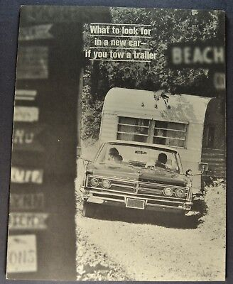 1966 Chrysler Towing Catalog Sales Brochure 300 Excellent Original 66