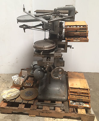 George Gorton Model 3u Pantograph Engraver Duplicator Machine Lot Of Tooling