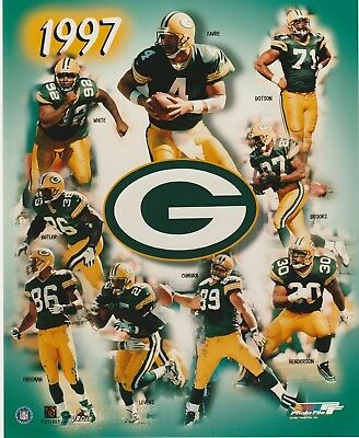 1997 GREEN BAY PACKERS 8X10 COLOR TEAM COLLAGE LICENSED PHOTO FILE