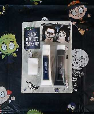 Halloween Black & White Face Paint, Fancy Dress, Zombie, Vampire, Scary Make Up](Black And White Face Halloween Makeup)