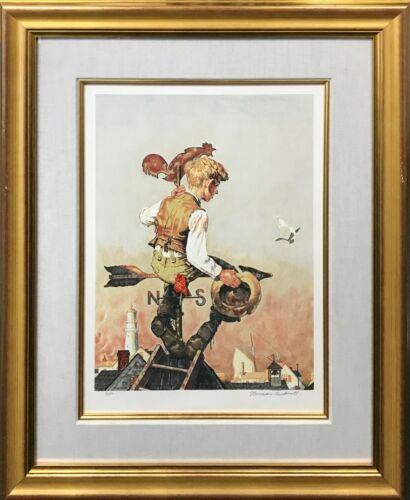 """Norman Rockwell """"under Sail"""" 1981 